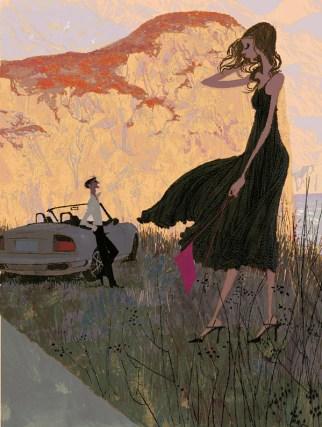 Near Monte Cofano. Illustration by Tadahiro Uesugi.