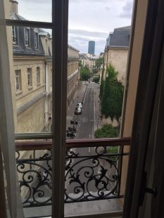 View from our Paris apartment