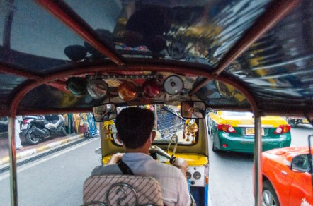 A sort of selfie from the back of the tuk-tuk.
