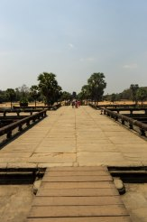 Onwards to the Angkor Temples in Siem Reap! This is on the promenade towards Angkor Wat.