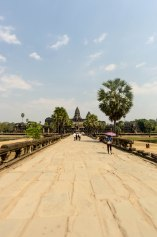 Walking back from Angkor Wat. The sheer size and effort that went into building this temple alone is staggering.