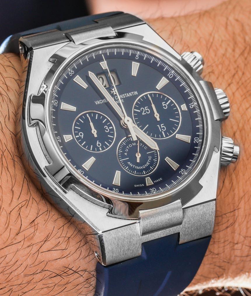 Vacheron Constantin Overseas Chronograph Blue Watch Hands-On | aBlogtoWatch