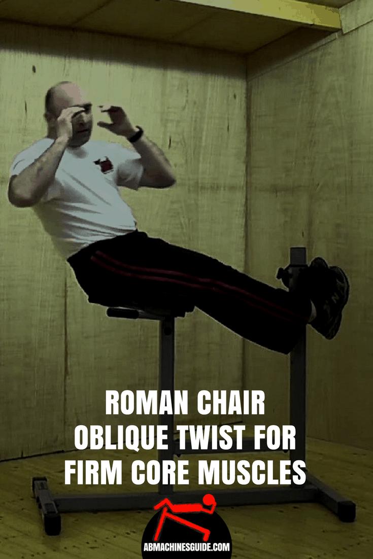 Roman Chair Oblique Twist For Firm Core Muscles