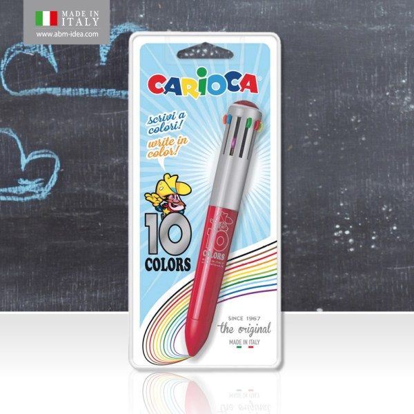 CARIOCA 10 COLORS ORIGINAL BLISTER 1 PC