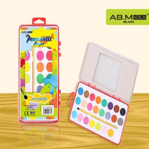 HX804821 Kit Acquarelli 24 colori con pennello