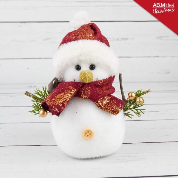 HX944279 SNOWMAN POLIFOAM ROSSO