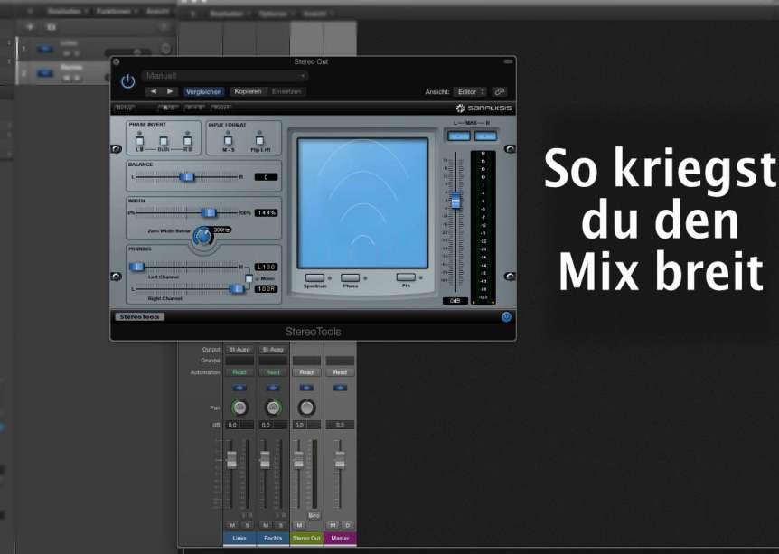 Den Mix breiter machen! Panorama beim Abmischen.