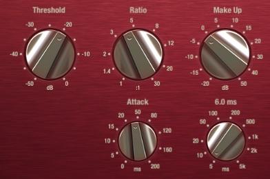 Den Kompressor für Gesang einstellen.