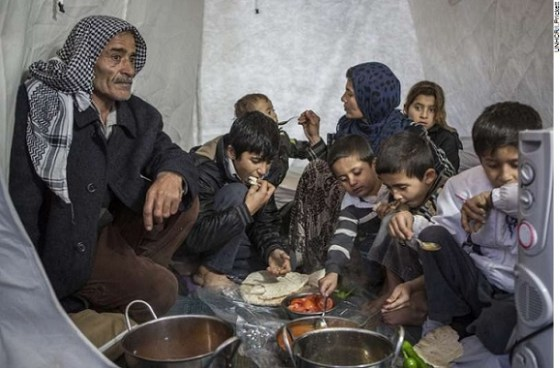 A Syrian refugee family from Raqqa finds safety in Suruc refugee camp in southern Turkey.