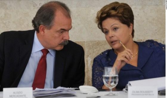 Aloizio Mercadante e Dilma Rousseff