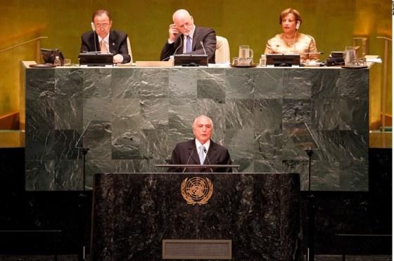 Presidente Michel Temer discursa na ONU