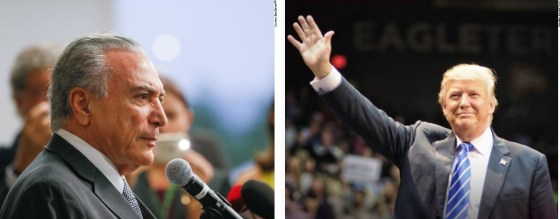 Michel Temer cumprimenta Donald Trump