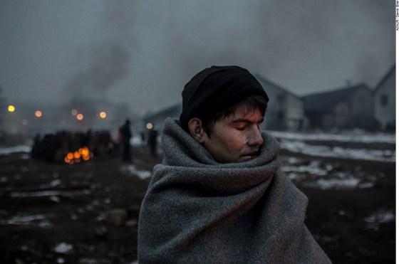Hazrat, de 16 anos, um refugiado afegão