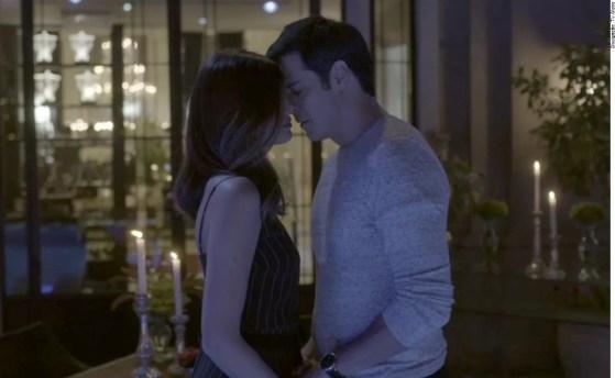 Luíza (Camila Queiroz) e Eric (Mateus Solano) em Cenas da Novela Pega Pega