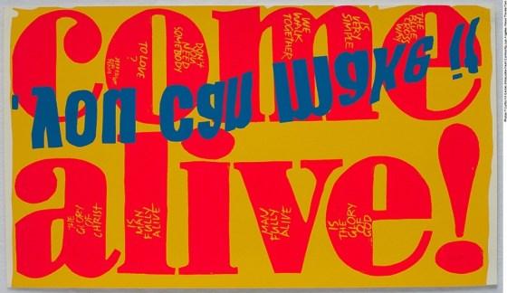 Corita Kent - Come Alive, 1967, Silkscreen Print on Paper