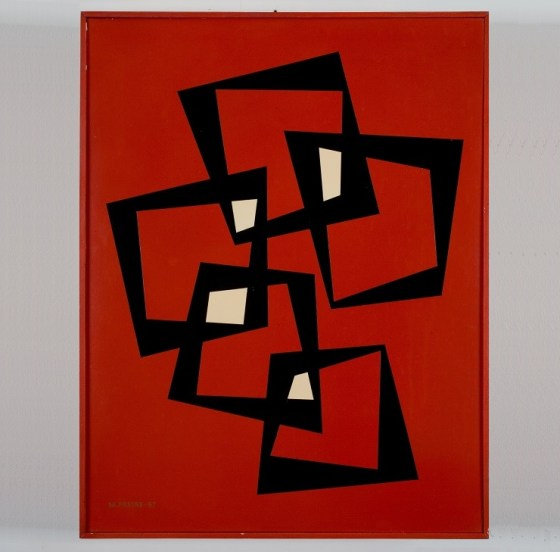 Mana Freire, 21 de enero, 1957, Proxyline lacquer on wood, The Ella Fontanals Cisneros Collection