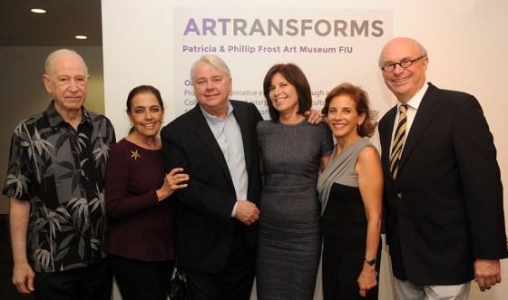 Phillip & Patricia Frost, Dennis & Debra Scholl, Dr. Jordana Pomeroy, and Daniel Perron, the Museum's Board Chair