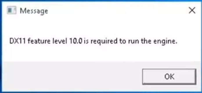 DX11 Feature Level 10.0 Required to Run the Engine