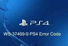 WS 37469 9 PS4 Error Code