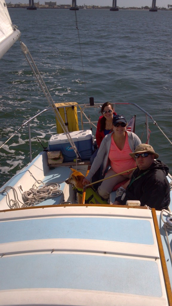 Sailing with Emily, Natalie and Jeff