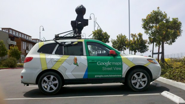 The Google car visited the marina