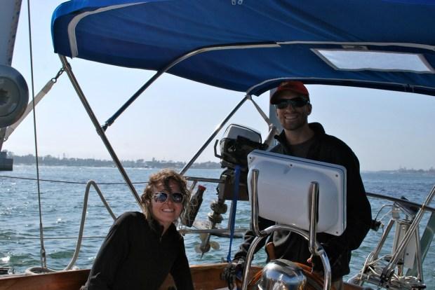 Jaime and Eric like sailing big boats too