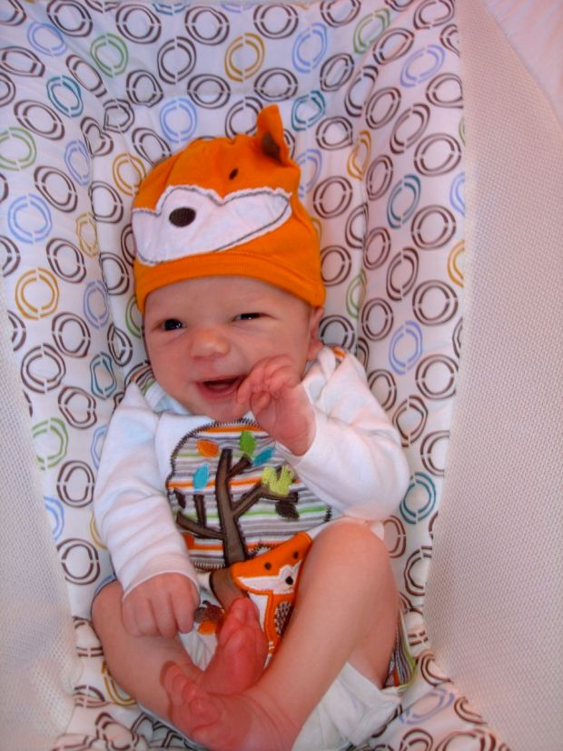 Sullivan being cute in his fox outfit. He was dressed up like Koku!
