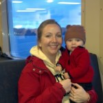 Riding the ferry over to see Woody, Janine and their kids, Reece and Maddie