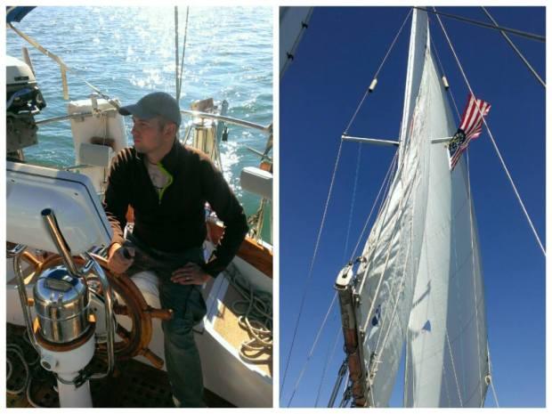 At the helm and sailing close hauled