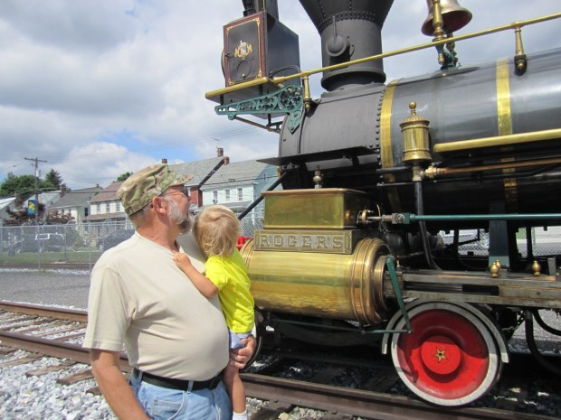 Visiting Steam in to History's new train in New Freedom, PA