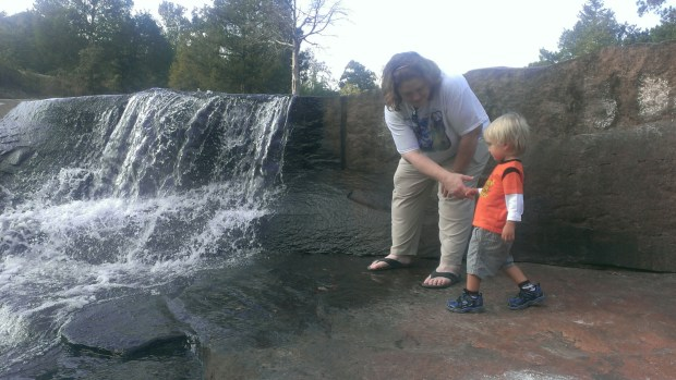 Visiting Flat Rock Park with Aunt Tracy