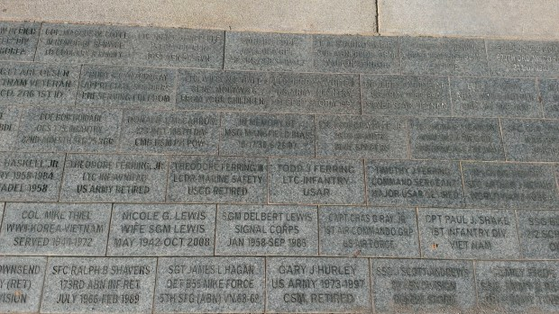 We visited the Heritage Walk Pavers at the National Infantry Museum commemorating military service in the Ferring family including Grampa Ferring, LTC Theodore Ferring, Jr INF/AVN/FAO US Army Retired, LCDR Theodore Ferring III Marine Safety USCG Retired, Todd Ferring LTC Infantry USAR and Timothy Ferring Command Sergeant Major USAR Retired