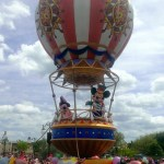 Mickey and Minnie in the parade
