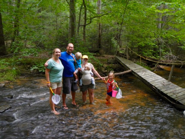 Hanging in the creek behind the cabin at Cowans Gap State Park