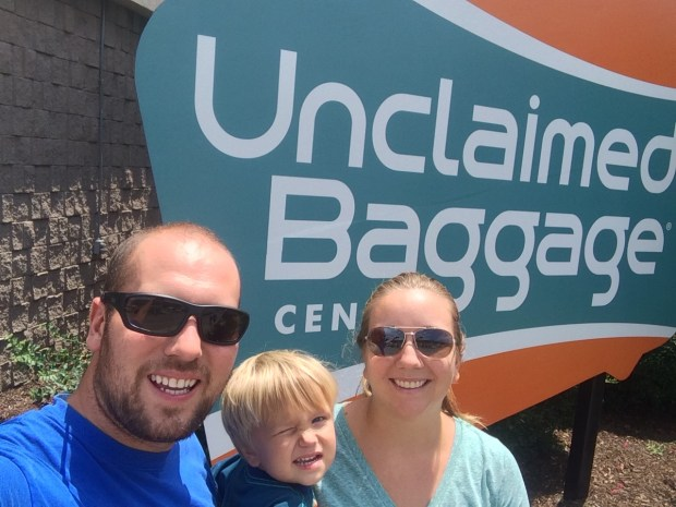At the unclaimed baggage center in Huntsville, AL