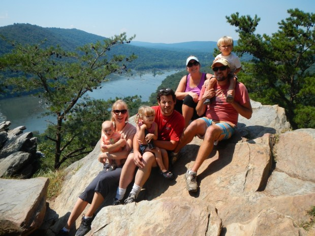 At the top of our Appalachian Trail hike. The viewpoint overlooked the Potomac River towards Charlestown, WV