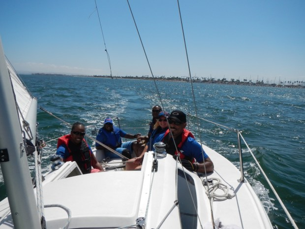 I got to skipper a Catalina Capri, a fun and fast 22 foot boat.