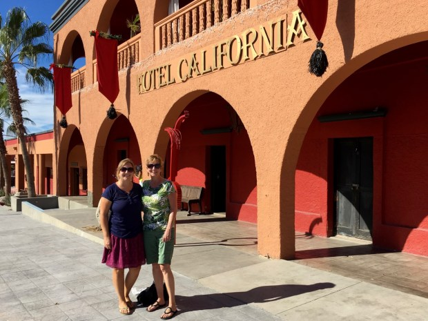 Natalie and Vicky at the Hotel California. We didn't check in so we got to leave quickly.