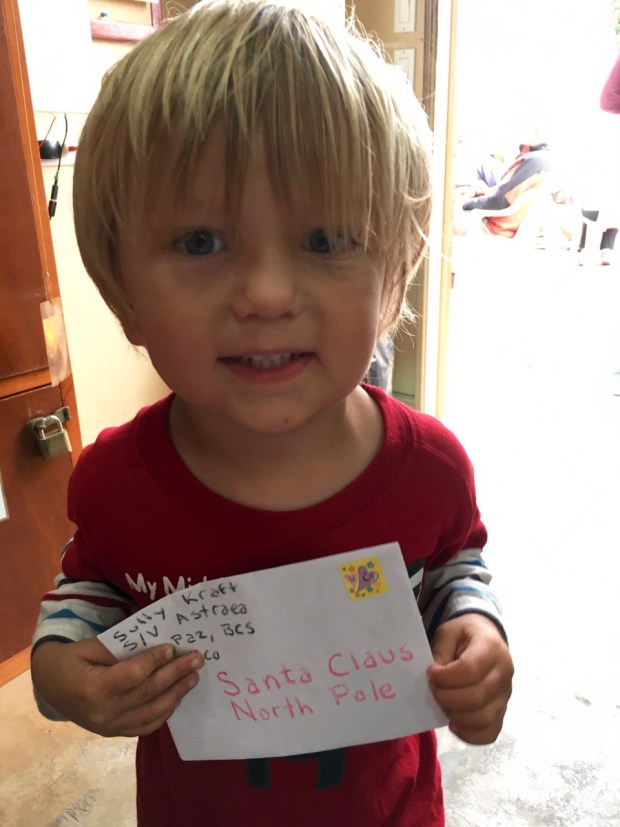 Sully wrote a letter and mailed it to Santa