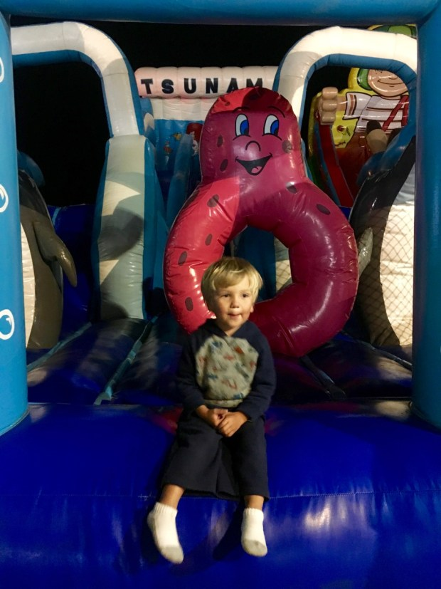 Then we found the bounce houses and he was occupied for an hour.