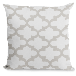 Pale warm gray and white pillow