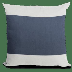 Navy White Linen Throw