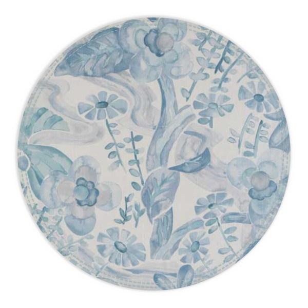 Blue and grey floral design