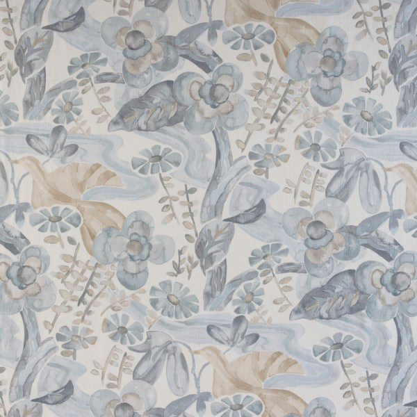 Grey and Taupe watercolor fabric
