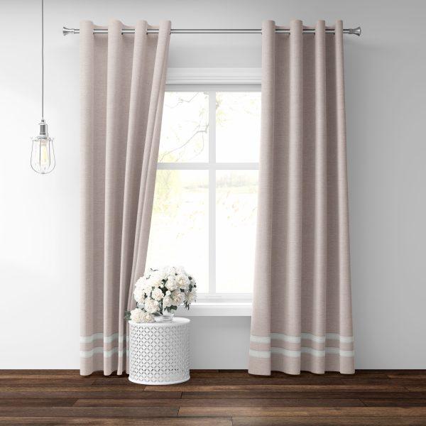 Pink Linen Grommet Panels