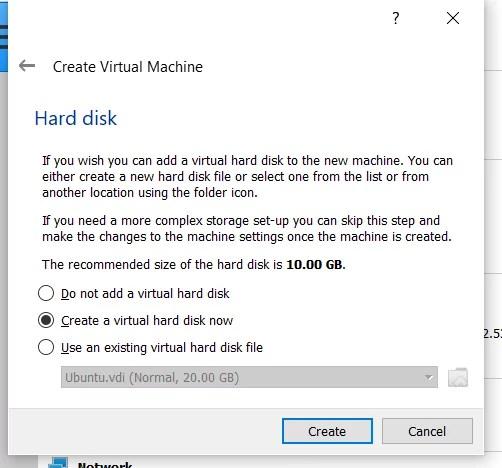 Hard Disk File Type In Virtual Machine