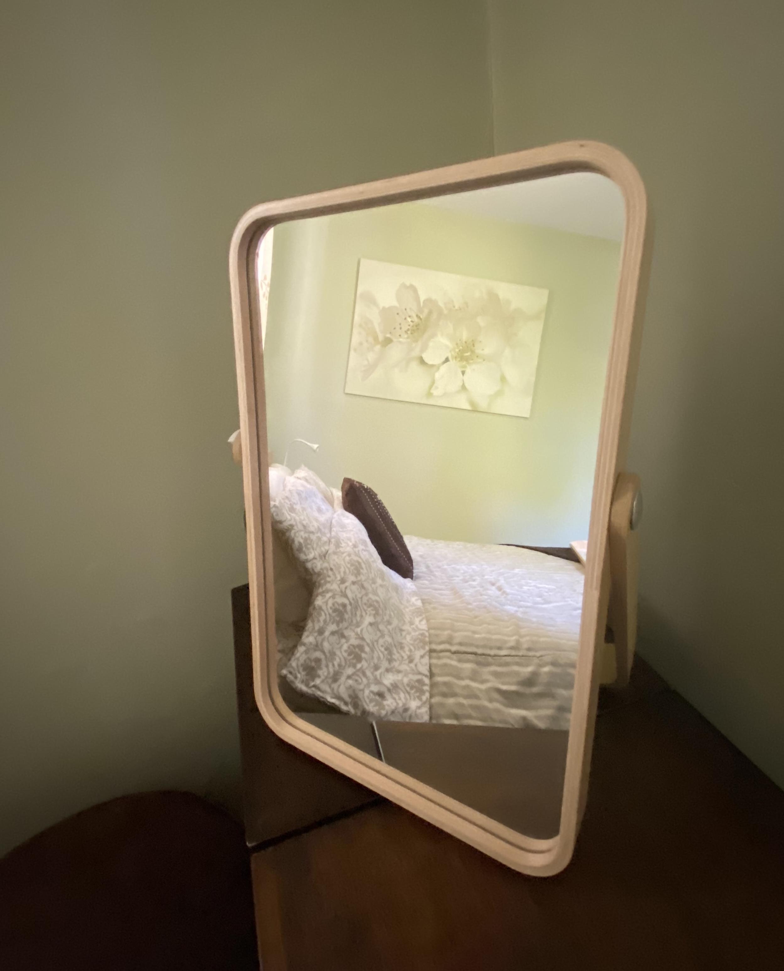 Guest Bedroom Vanity Mirror Vignette