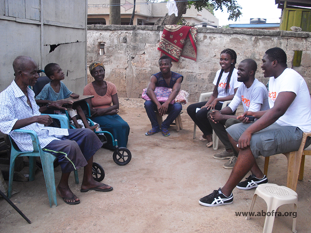 A week after donation,a team from Abofra Foundation visited Kofi and family. The feedback was very positive.