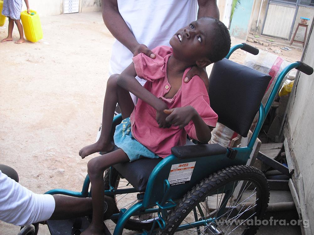 Kofi now get a wheel chair.