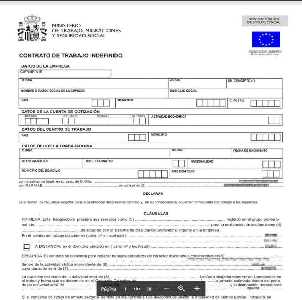 contrato de trabajo españa solicitar contrato de trabajo en españa como obtener un contrato de trabajo en españa